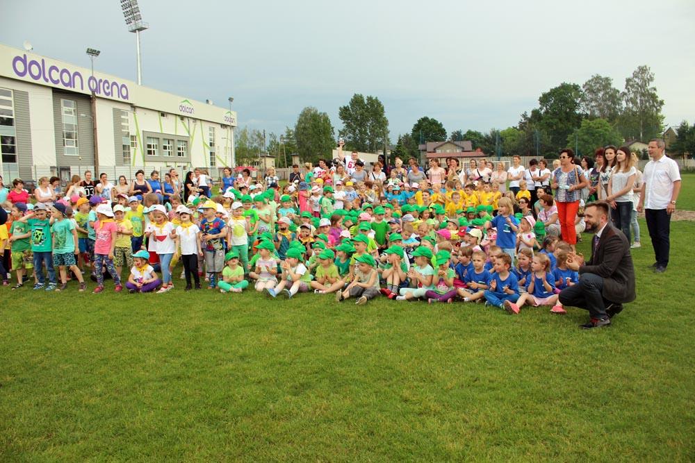 Olimpiada przedszkolaków w Miejskim Ośkrodku Sportu i Rekreacji w Ząbkach