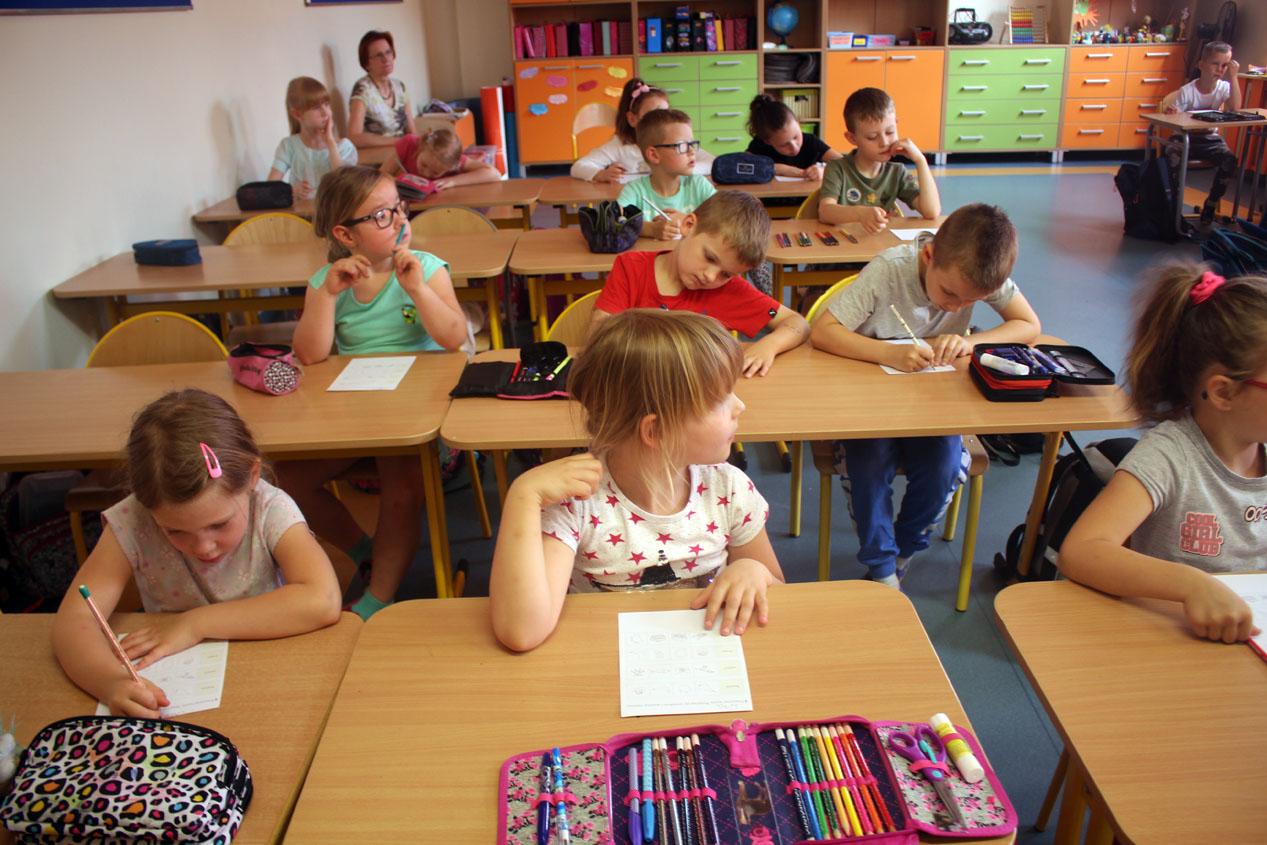 """Lekcja w szkole w ramach programu """"Ku dojrzałości szkolnej"""""""